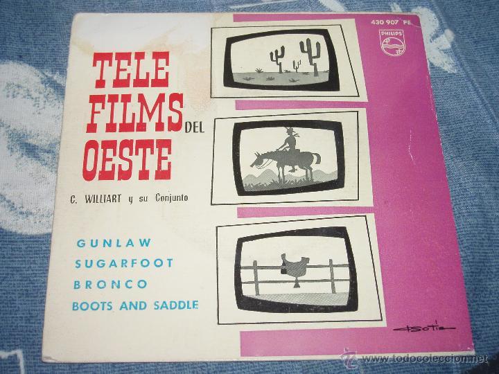 TELE FILMS DEL OESTE -- 1963 -- SUGARFOOT, BRONCO, GUNLAW + 1- (TELEFILMS) + REGALO DE MARIE LAFORET (Música - Discos de Vinilo - Maxi Singles - Bandas Sonoras y Actores)