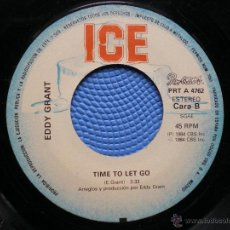 Discos de vinilo: EDDY GRANT: BOYS IN THE STREET / TIME TO LET GO SINGLE SIN CARATULA. Lote 49231341