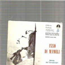 Discos de vinilo: INNO DI MAMELI. Lote 49240443