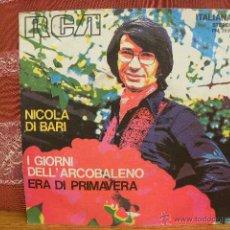 Discos de vinilo: NICOLA DI BARI - I GIORNI / RCA ITALIA 1972. Lote 49245745