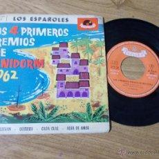Discos de vinilo: LOS 4 PRIMEROS PREMIOS DE BENIDORM 1962. Lote 49247669