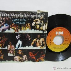 Discos de vinilo: EARTH, WIND & FIRE - CANTO UNA CANCION - CBS - SPAIN - 1975 - VG+/VG. Lote 49255394