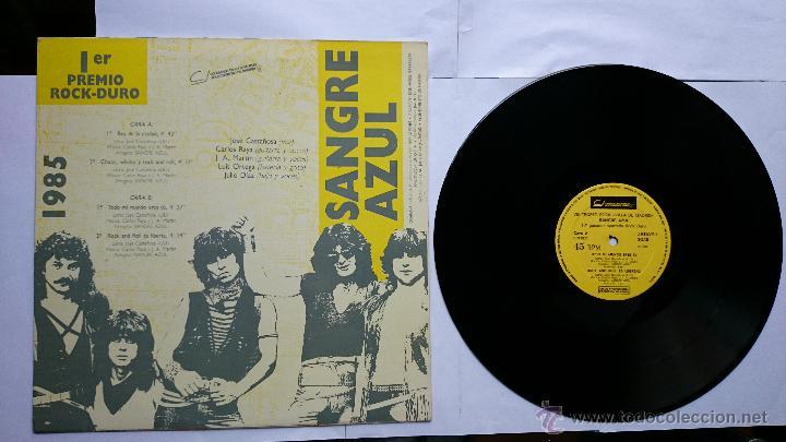 Discos de vinilo: SANGRE AZUL - REY DE LA CIUDAD / CHICAS, WHISKY Y ROCK AND ROLL / TODO MI MUNDO ERES TU.. (1985) - Foto 2 - 49257714