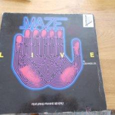 Discos de vinilo: MAZE LIVE. Lote 49261066