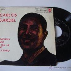 Discos de vinilo: SINGLE EP CARLOS GARDEL -- AÑO 1963 -- LA CUMPARSITA-CAMINITO-EL DIA QUE ME QUIERAS Y MANO A MANO.. Lote 49264036