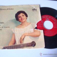 Discos de vinilo: SINGLE EP GLORIA LASSO EP EMI 1958 CACHITO/ BAHIA/ NOCHES DE VERACRUZ/ GRANADA FRANCK POURCEL. Lote 49264080