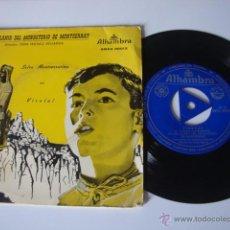 Discos de vinilo: SINGLE EP ESCOLANIA DEL MONASTERIO DE MONTSERRAT.- VIROLAI.- SALVE MONTSERRATINA.-. Lote 49264107