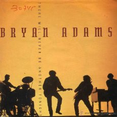 Disques de vinyle: BRYAN ADAMS / THERE WILL NEVER BE ANOTHER TONIGHT / INTO THE FIRE (SINGLE 1991). Lote 49266262
