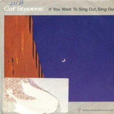 Discos de vinil: CAT STEVENS / IF YOU TO SING OUT, SING OUT / DAYTIME (SINGLE PROMO 1984). Lote 49266550