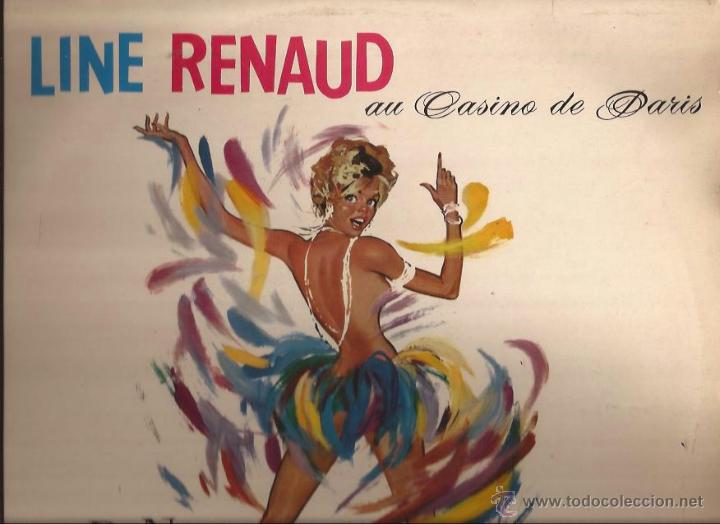 LP-LINE RENAUD AU CASINO DE PARIS-PATHE 132-FRANCE 196??-GOLDEN GATE QUARTET-SEXY COVER (Música - Discos - LP Vinilo - Canción Francesa e Italiana)