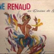 Discos de vinilo: LP-LINE RENAUD AU CASINO DE PARIS-PATHE 132-FRANCE 196??-GOLDEN GATE QUARTET-SEXY COVER. Lote 49267347