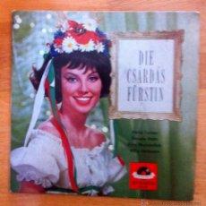 Discos de vinilo: DIE CSÁRDÁS FÜRSTIN - HERTA TALMAR, RENATE HOLM, FIRTZ WUNDERLICH, WILLY HOFMANN. Lote 49273960