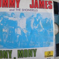 Discos de vinilo: TOMMY JAMES AND THE SHONDELLS -MONY MONY -SINGLE 1968. Lote 49291489