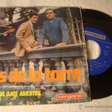 Discos de vinilo: DISCO SINGLE OS DE LA TORRE CON LOS OJOS ABIERTOS. Lote 49293139