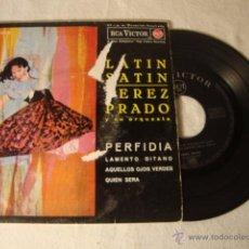 Discos de vinilo: PEREZ PRADO PERFIDIA/LAMENTO GITANO/AQUELLOS OJOS VERDES/QUIEN SERA EP 1962 LATIN SATIN ESPAÑA SPAIN. Lote 49296836
