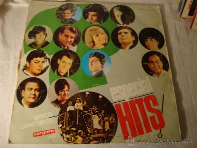 ANTIGUO DISCO LP ESPECIAL HITS CONCURSO ESPECTACULAR PARA LA JUVENTUD, VERGARA (Música - Discos - LP Vinilo - Grupos Españoles 50 y 60)