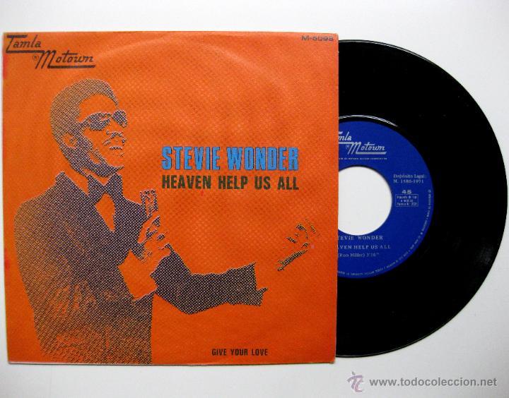 STEVIE WONDER - HEAVEN HELP US ALL - SINGLE TAMLA MOTOWN PROMO 1971 BPY (Música - Discos - Singles Vinilo - Funk, Soul y Black Music)