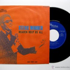Discos de vinilo: STEVIE WONDER - HEAVEN HELP US ALL - SINGLE TAMLA MOTOWN PROMO 1971 BPY. Lote 49303181