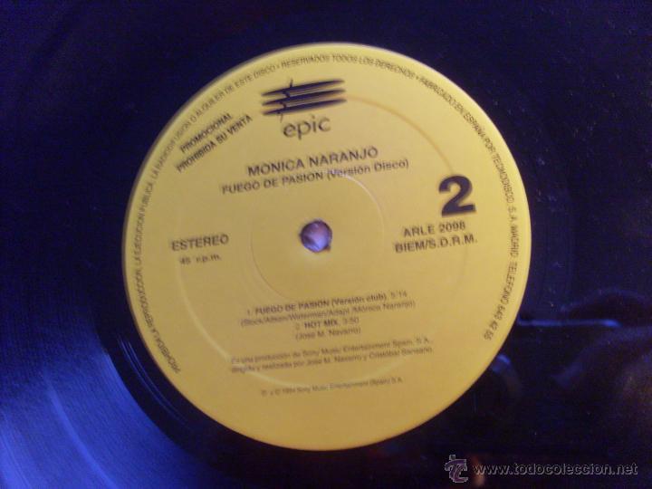 Discos de vinilo: MONICA NARANJO (FUEGO DE PASION X 2 / HOT MIX) MAXI SINGLE ESPAÑA PROMO (EX+/NM) (VIN17) - Foto 2 - 236339980