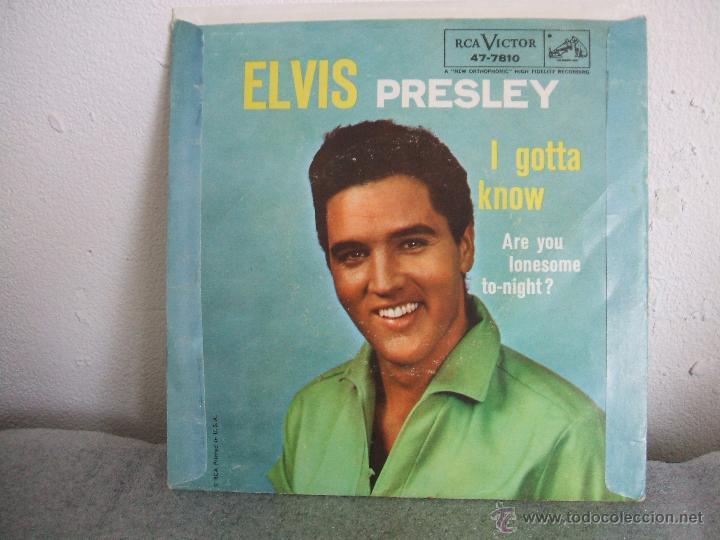 Discos de vinilo: ELVIS PRESLEY: ARE YOU LONESOME TONIGHT / I GOTTA KNOW (ORIGINAL USA, 1960) (RCA Victor - 47-7810) - Foto 2 - 49302218