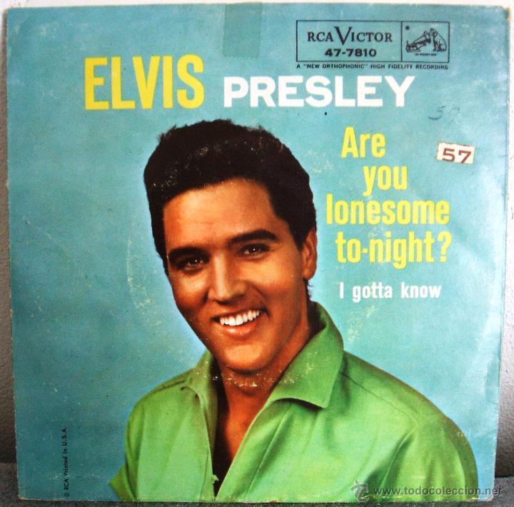 ELVIS PRESLEY: ARE YOU LONESOME TONIGHT / I GOTTA KNOW (ORIGINAL USA, 1960) (RCA VICTOR - 47-7810) (Música - Discos - Singles Vinilo - Pop - Rock Extranjero de los 50 y 60)