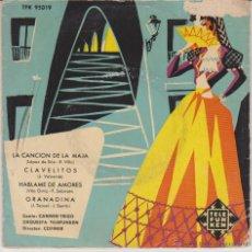 Discos de vinilo: CARMEN TRIGO ( ORQUESTA TELEFUNKEN ) LA CANCION DE LA MAJA + 3 - EP SPAIN 1957 VG / VG++. Lote 49321802