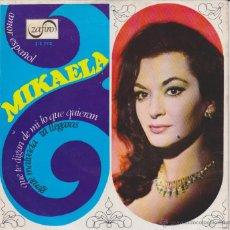 Discos de vinilo: MIKAELA - QUE TE DIGAN DE MI - GENTE MALVADA + 2 - EP SPAIN PROMO 1967 EX / EX. Lote 49322000