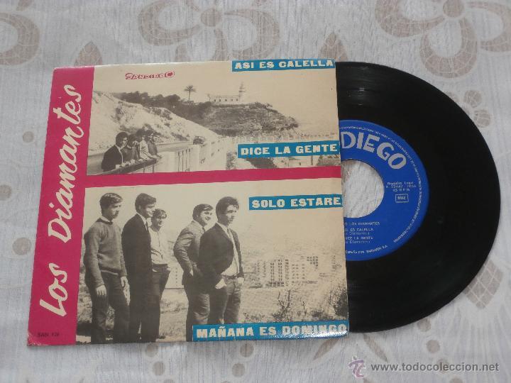 LOS DIAMANTES 7´SG ASI ES CALELLA + 3 (1966) EN MUY BUEN ESTADO (Música - Discos de Vinilo - EPs - Grupos Españoles 50 y 60)