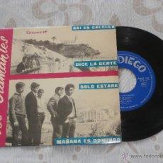 Discos de vinilo: LOS DIAMANTES 7´SG ASI ES CALELLA + 3 (1966) EN MUY BUEN ESTADO. Lote 49325142