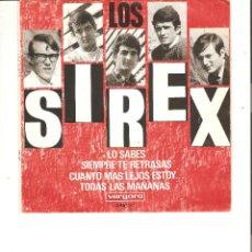 Discos de vinilo: LOS SIREX, LO SABES VERGARA 1966. Lote 49325433