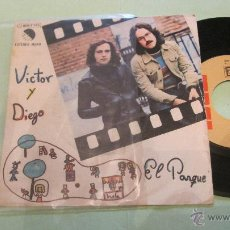 Discos de vinilo: VICTOR Y DIEGO: EL PARQUE / SOLTERIAS. MUY BUEN ESTADO DE CONSERVACION Y FUNCIONANDO. Lote 49326430
