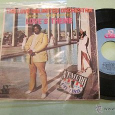 Discos de vinilo: THE UNLIMITED ORCHESTHA. BARRY WHITE:::: LOVES THEME. Nº1 1N USA 1974.FUNCIONANDO. Lote 49326581