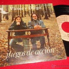 Discos de vinilo: VICTOR Y DIEGO JUEGOS DE ACCION/ODA A LA INTEGRIDAD 7 SINGLE 1976 EMI. Lote 49334286