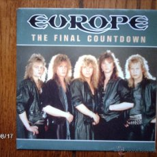 Discos de vinilo: EUROPE - THE FINAL COUNTDOWN + ON BROKEN WINGS . Lote 86103812
