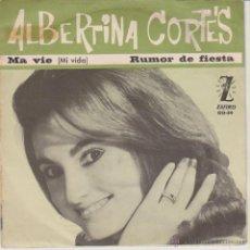 Discos de vinilo: ALBERTINA CORTES - MA VIE - RUMOR DE FIESTA - SG SPAIN PROMO 1964 VG++ / VG++. Lote 49338209