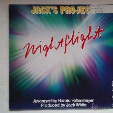 Disques de vinyle: JACK'S PROJECT - NIGHTFLIGHT - 1985. Lote 49338539