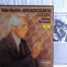 Discos de vinilo: LP 3-BELA BARTOK-MIKROKOSMOS-HOMERO FRANCESCH. Lote 49338662