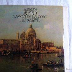 Discos de vinilo: LP ALBINONI ADAGIO-JEAN CLAUDE MALGOIRE. Lote 49338997