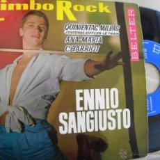 Discos de vinilo: ENNIO SANGIUSTO -LIMBO ROCK -EP 1963. Lote 49342942