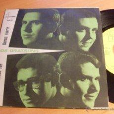 Discos de vinilo: LOS GRATSONS (AQUELLA NOCHE FUE +1) SINGLE ESPAÑA 1964 COVER BEATLES (NM/EX+) (EP12). Lote 49344802