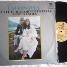 Discos de vinilo: CARPENTERS - '' CERCA DE TI Y OTROS EXITOS ( CLOSE TO YOU ) '' LP ORIGINAL SPAIN 1970. Lote 49345188