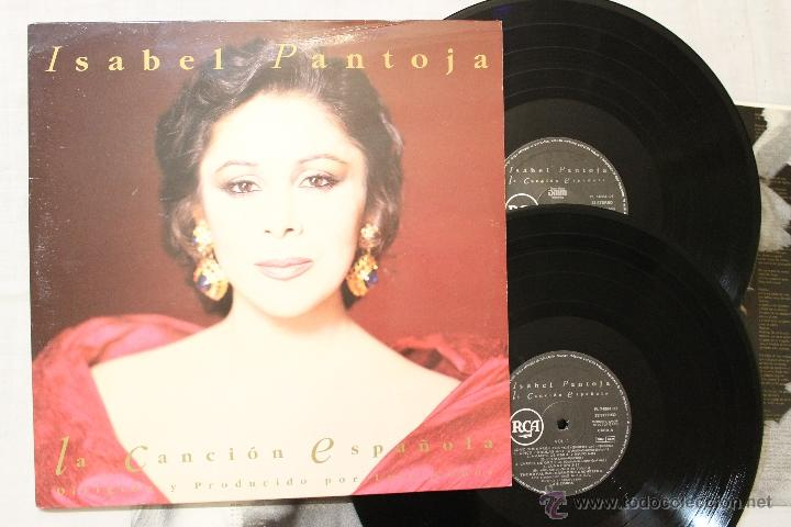 ISABEL PANTOJA LA CANCION ESPAÑOLA DOBLE 2 LP VINILOS ARIOLA MADE IN SPAIN 1990 (Música - Discos - LP Vinilo - Flamenco, Canción española y Cuplé)