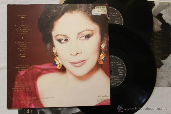 Discos de vinilo: ISABEL PANTOJA LA CANCION ESPAÑOLA DOBLE 2 LP VINILOS ARIOLA MADE IN SPAIN 1990 - Foto 2 - 49345742