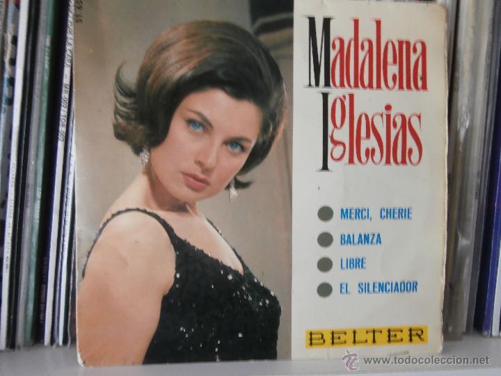 MADALENA IGLESIAS - MERCI, CHERIE (EP) 1966 (Música - Discos de Vinilo - EPs - Solistas Españoles de los 50 y 60)