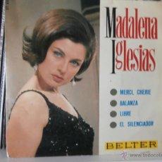 Discos de vinilo: MADALENA IGLESIAS - MERCI, CHERIE (EP) 1966. Lote 49348256