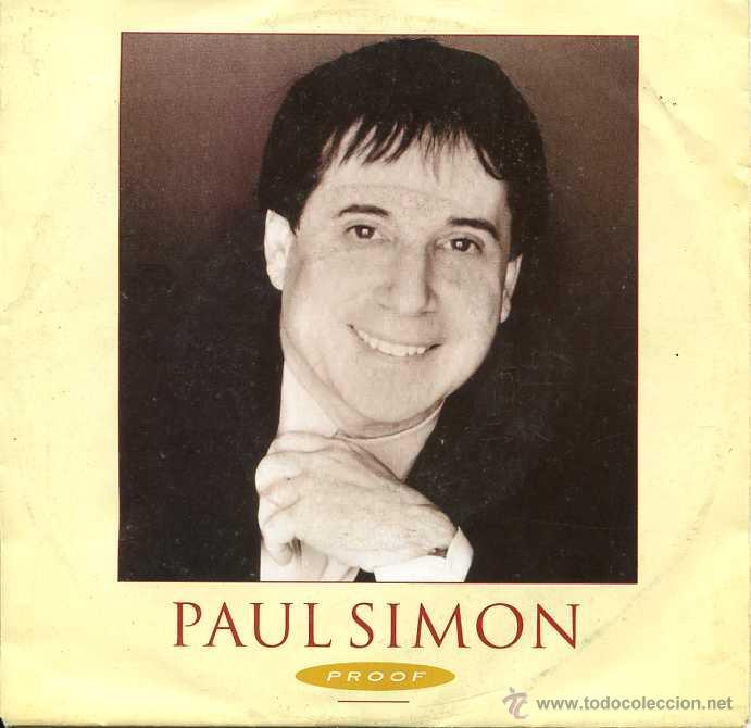 PAUL SIMON / PROOF / THE COOL, COOL RIVER (SINGLE 1991) (Música - Discos - Singles Vinilo - Pop - Rock Extranjero de los 90 a la actualidad)