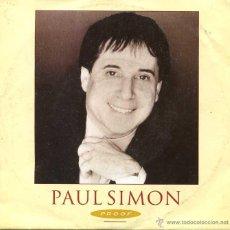 Disques de vinyle: PAUL SIMON / PROOF / THE COOL, COOL RIVER (SINGLE 1991). Lote 49349872