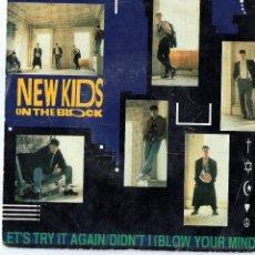 Discos de vinilo: NEW KIDS ON THE BLOCK - LETS TRY IT AGAIN - SINGLE.. Lote 49351768