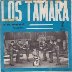 Discos de vinilo: LOS TAMARA - TU ME HACES MAL - PECADORA - SG SPAIN PROMO 1965 VG+ / VG++. Lote 49354487