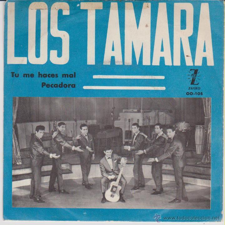 Discos de vinilo: LOS TAMARA - TU ME HACES MAL - PECADORA - SG SPAIN PROMO 1965 VG+ / VG++ - Foto 2 - 49354487